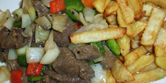 Bò sốt khoai tây chiên