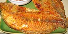 Cá rô phi chiên giềng sả
