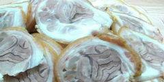 Thịt châm giò luộc