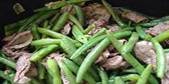 Bò xào đậu cove