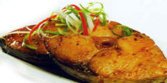 Cá trắm rim tiêu